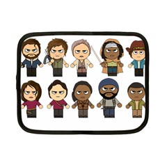 The Walking Dead   Main Characters Chibi   Amc Walking Dead   Manga Dead Netbook Case (small)  by PTsImaginarium