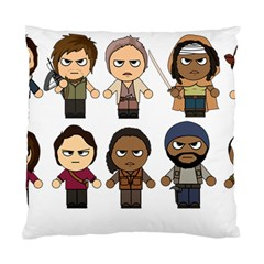 The Walking Dead   Main Characters Chibi   Amc Walking Dead   Manga Dead Standard Cushion Case (two Sides) by PTsImaginarium