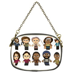 The Walking Dead   Main Characters Chibi   Amc Walking Dead   Manga Dead Chain Purses (two Sides)  by PTsImaginarium