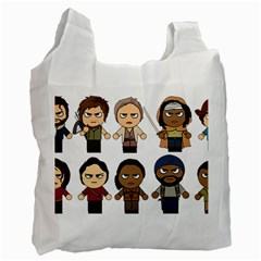 The Walking Dead   Main Characters Chibi   Amc Walking Dead   Manga Dead Recycle Bag (one Side) by PTsImaginarium