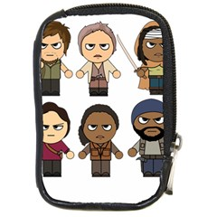 The Walking Dead   Main Characters Chibi   Amc Walking Dead   Manga Dead Compact Camera Cases by PTsImaginarium