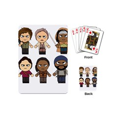 The Walking Dead   Main Characters Chibi   Amc Walking Dead   Manga Dead Playing Cards (mini)  by PTsImaginarium
