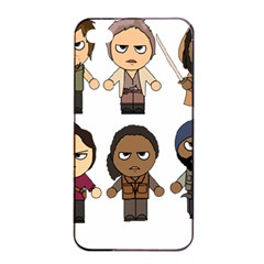 The Walking Dead   Main Characters Chibi   Amc Walking Dead   Manga Dead Apple Iphone 4/4s Seamless Case (black) by PTsImaginarium