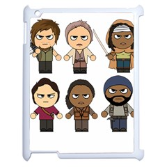 The Walking Dead   Main Characters Chibi   Amc Walking Dead   Manga Dead Apple Ipad 2 Case (white) by PTsImaginarium
