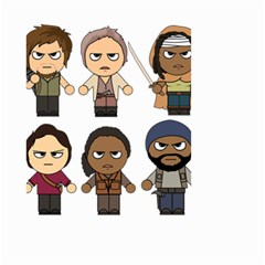 The Walking Dead   Main Characters Chibi   Amc Walking Dead   Manga Dead Small Garden Flag (two Sides) by PTsImaginarium