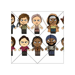 The Walking Dead   Main Characters Chibi   Amc Walking Dead   Manga Dead Acrylic Tangram Puzzle (4  X 4 ) by PTsImaginarium