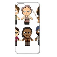 The Walking Dead   Main Characters Chibi   Amc Walking Dead   Manga Dead Apple Seamless Iphone 5 Case (clear) by PTsImaginarium
