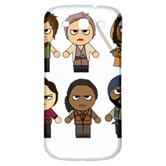 The Walking Dead   Main Characters Chibi   Amc Walking Dead   Manga Dead Samsung Galaxy S3 S Iii Classic Hardshell Back Case by PTsImaginarium