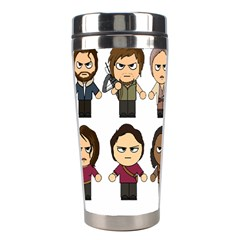 The Walking Dead   Main Characters Chibi   Amc Walking Dead   Manga Dead Stainless Steel Travel Tumblers by PTsImaginarium