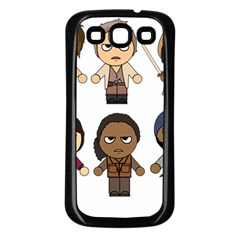 The Walking Dead   Main Characters Chibi   Amc Walking Dead   Manga Dead Samsung Galaxy S3 Back Case (black) by PTsImaginarium