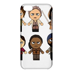 The Walking Dead   Main Characters Chibi   Amc Walking Dead   Manga Dead Apple Iphone 5c Hardshell Case by PTsImaginarium