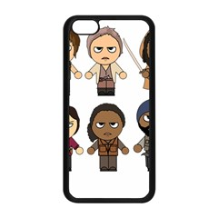 The Walking Dead   Main Characters Chibi   Amc Walking Dead   Manga Dead Apple Iphone 5c Seamless Case (black) by PTsImaginarium