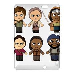 The Walking Dead   Main Characters Chibi   Amc Walking Dead   Manga Dead Kindle Fire Hdx 8 9  Hardshell Case by PTsImaginarium