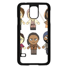 The Walking Dead   Main Characters Chibi   Amc Walking Dead   Manga Dead Samsung Galaxy S5 Case (black) by PTsImaginarium