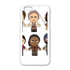 The Walking Dead   Main Characters Chibi   Amc Walking Dead   Manga Dead Apple Iphone 6/6s White Enamel Case by PTsImaginarium