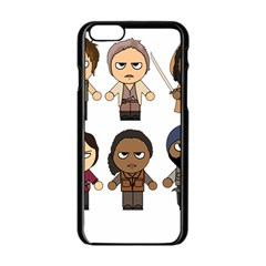 The Walking Dead   Main Characters Chibi   Amc Walking Dead   Manga Dead Apple Iphone 6/6s Black Enamel Case by PTsImaginarium