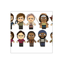 The Walking Dead   Main Characters Chibi   Amc Walking Dead   Manga Dead Satin Bandana Scarf by PTsImaginarium