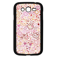 Ornamental Pattern With Hearts And Flowers  Samsung Galaxy Grand Duos I9082 Case (black) by TastefulDesigns