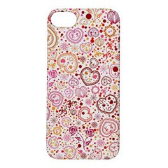 Ornamental Pattern With Hearts And Flowers  Apple Iphone 5s/ Se Hardshell Case by TastefulDesigns