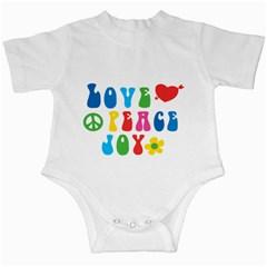 Love Peace Joy Infant Creepers by TastefulDesigns