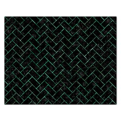 Brick2 Black Marble & Green Marble Jigsaw Puzzle (rectangular) by trendistuff