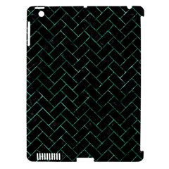 Brick2 Black Marble & Green Marble Apple Ipad 3/4 Hardshell Case (compatible With Smart Cover) by trendistuff