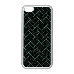Brick2 Black Marble & Green Marble Apple Iphone 5c Seamless Case (white) by trendistuff