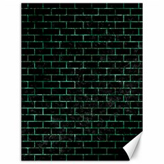 Brick1 Black Marble & Green Marble Canvas 12  X 16  by trendistuff