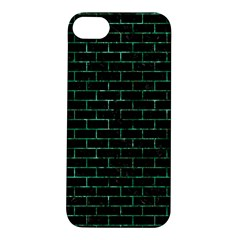 Brick1 Black Marble & Green Marble Apple Iphone 5s/ Se Hardshell Case by trendistuff