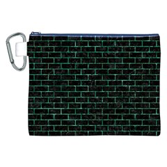 Brick1 Black Marble & Green Marble Canvas Cosmetic Bag (xxl) by trendistuff