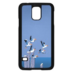 Abstract Pelicans Seascape Tropical Pop Art  Samsung Galaxy S5 Case (black) by WaltCurleeArt