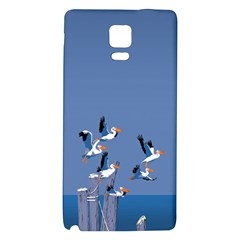 Abstract Pelicans Seascape Tropical Pop Art  Galaxy Note 4 Back Case by WaltCurleeArt
