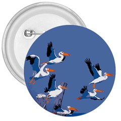 Abstract Pelicans Seascape Tropical Pop Art 3  Buttons by WaltCurleeArt