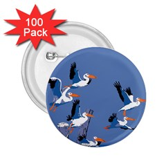 Abstract Pelicans Seascape Tropical Pop Art 2 25  Buttons (100 Pack)  by WaltCurleeArt