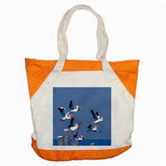 Abstract Pelicans Seascape Tropical Pop Art Accent Tote Bag by WaltCurleeArt