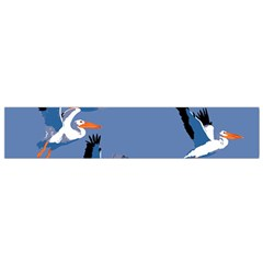 Abstract Pelicans Seascape Tropical Pop Art Flano Scarf (small) by WaltCurleeArt