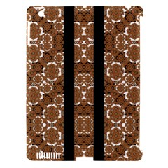 Orange And Black Boho Stripes Apple Ipad 3/4 Hardshell Case (compatible With Smart Cover) by dflcprints