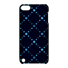 Seamless Geometric Blue Dots Pattern  Apple Ipod Touch 5 Hardshell Case With Stand by TastefulDesigns