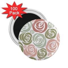 Retro Elegant Floral Pattern 2 25  Magnets (100 Pack)  by TastefulDesigns