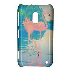 Two Pink Flamingos Pop Art Nokia Lumia 620 by WaltCurleeArt