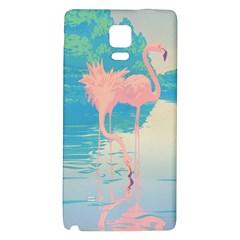 Two Pink Flamingos Pop Art Galaxy Note 4 Back Case by WaltCurleeArt