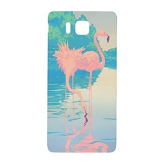 Two Pink Flamingos Pop Art Samsung Galaxy Alpha Hardshell Back Case by WaltCurleeArt