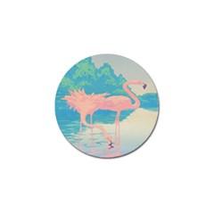 Two Pink Flamingos Pop Art Golf Ball Marker (10 Pack) by WaltCurleeArt