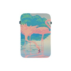 Two Pink Flamingos Pop Art Apple Ipad Mini Protective Soft Cases by WaltCurleeArt