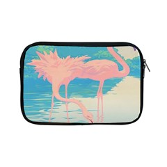 Two Pink Flamingos Pop Art Apple Ipad Mini Zipper Cases by WaltCurleeArt