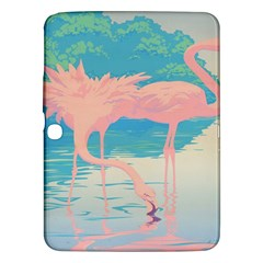 Two Pink Flamingos Pop Art Samsung Galaxy Tab 3 (10 1 ) P5200 Hardshell Case  by WaltCurleeArt