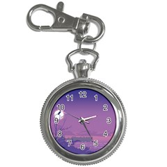 Abstract Tropical Birds Purple Sunset  Key Chain Watches by WaltCurleeArt