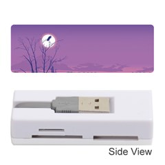 Abstract Tropical Birds Purple Sunset  Memory Card Reader (stick)  by WaltCurleeArt