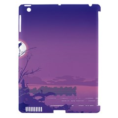 Abstract Tropical Birds Purple Sunset  Apple Ipad 3/4 Hardshell Case (compatible With Smart Cover) by WaltCurleeArt