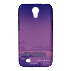 Abstract Tropical Birds Purple Sunset  Samsung Galaxy Mega 6 3  I9200 Hardshell Case by WaltCurleeArt
